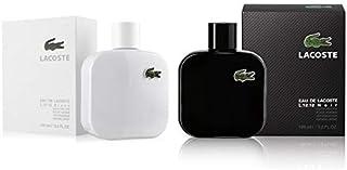 Bundle Lacoste Set Of 2 Men Perfumes (Lacoste L.12.12 Blanc 100ml Lacoste L.12.12 Noir 100ml )