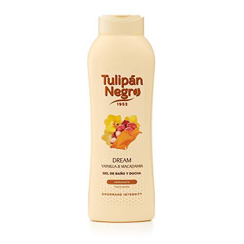 Tulipán Negro - Gel de baño y ducha, Vainilla y Macadamia, 720 ml, 1 unidad