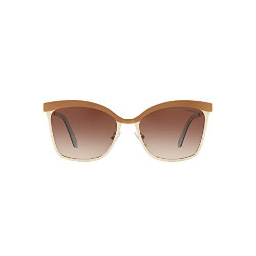 Tiffany & Co. Dames 0TY3060 61283B 55 zonnebril, bruin (bruin/pale goud/bruingradient)