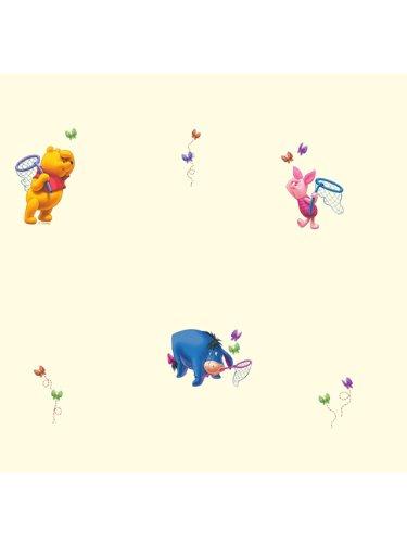 Papier peint Winnie l'ourson Pastels 10 m
