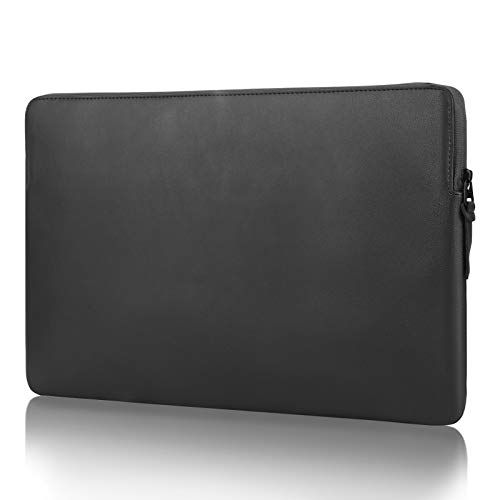 FANIS 13-13.3 inch Leather Laptop Sleeve Case, Waterproof & Slim Notebook Protective PU Case, Leather Protective Case, Compatible with MacBook Pro 13', MacBook Air 13.3'