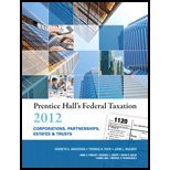 Prentice Hall's Federal Taxation 2012 Corporations, Partnerships, Estates & Trusts (25th, 12) by Anderson, Kenneth E - Pope, Thomas R - Kramer, John L [Hardcover (2011)]