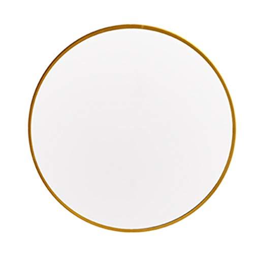 Gouden IJzeren Rand Muur Gemonteerd Ronde Spiegel Hd Explosie-Proof Make-up Vanity Spiegel Home Decoratie Eenvoudige Scheerspiegel Geschikt voor Woonkamer Wasruimte Entryway