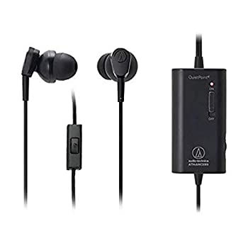 Audio-Technica ATH-ANC33iS QuietPoint Active Noise-Cancelling In-Ear Headphones with In-Line Microphone & Control