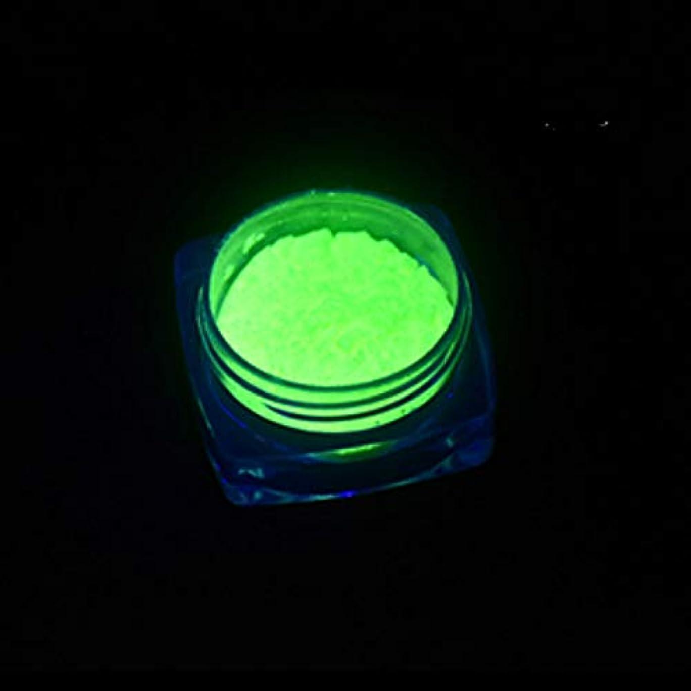 比べるヘア置換ビューティー&パーソナルケア 3 PCSネオン蛍光体粉末ネイルグリッターパウダー ステッカー&デカール (色 : YGF09 Light Green)