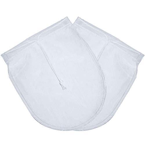 FOGAWA Cheese Cloth 2 Pcs Paño Queso Bolsa de Leche Telas Filtrantes de Nuez Reutilizable Gasa Colador Mulla para Queso Tejido de Nylon Natural para Mantequilla Leche