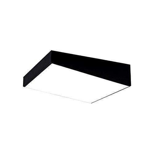 WINZSC Moderne Bürobeleuchtung LED-Deckenleuchten Platz führte Schlafzimmer Lampe Restaurant Deckenleuchten Studie Deckenleuchten ZA BG20 LU9 (Color : Black, Size : D40cm)