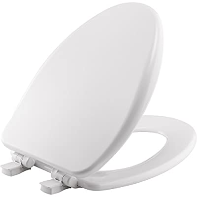 Mayfair 64SLOWA 000 Molded Wood Toilet Seat featuring Whisper-Close, Easy Clean & Change Hinges