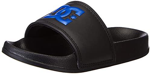DC Shoes DC Slide-Sandalen für Jungen, Tongs, Black Royal, 28 EU