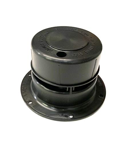 Autmotive Authority Plastic Attic/Plumbing Vent Cover 1-1/2' Pipe Diameter RV Trailer (Black)