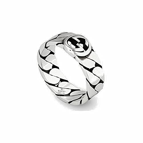 GUCCI wide silver ring with GG MIS 14 YBC661513001014