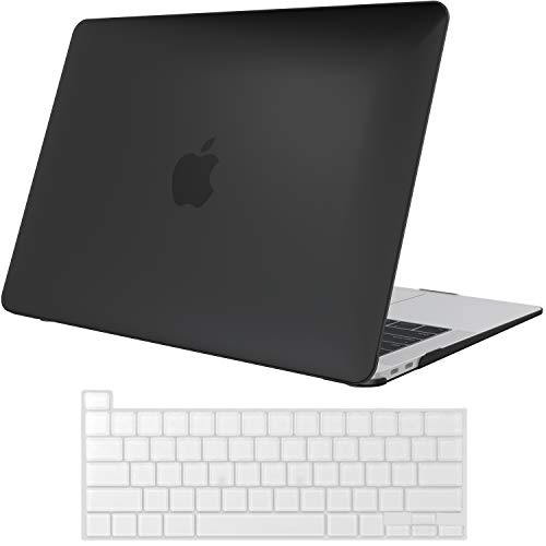 ProCase MacBook Pro 13 Case 2020 Release A2338 M1 A2289 A2251, Hard Case Shell Cover and Keyboard Skin Cover for MacBook Pro 13 Inch Model M1 A2338 A2289 A2251 -Black