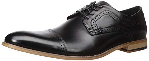 STACY ADAMS Men's Dickinson Cap Toe Oxford, Black, 14 W US