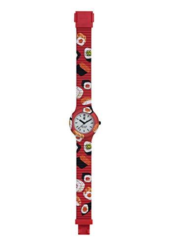 Orologio HIP HOP donna FOOD LOVERS quadrante bianco e cinturino in silicone rosso, movimento SOLO TEMPO - 3H QUARZO