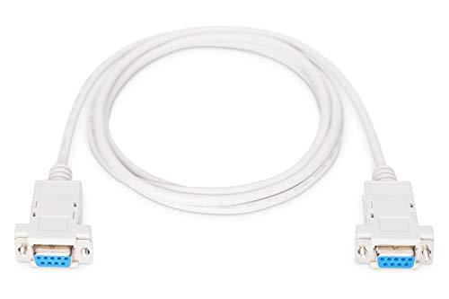 DIGITUS Null-Modem Kabel - D-Sub 9 zu D-Sub 9 - Buchse zu Buchse - 1.8m Anschluss-Kabel - Beige
