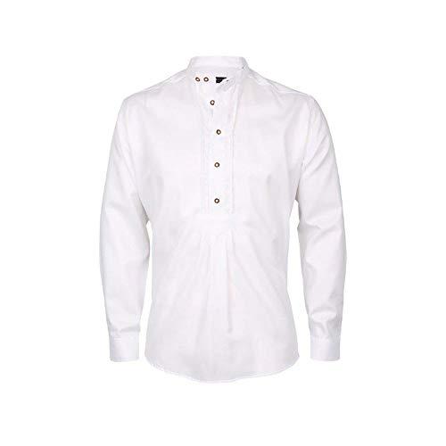 Arido Pfoad Herren Trachtenhemd Slim Fit (38),Weiß
