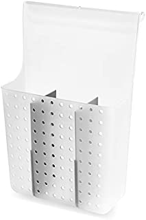 madesmart Overdoor Hair Tools Organizer with Dividers - Grey, Frost | BATH COLLECTION | Storage for Curling Wand, Hair Str...