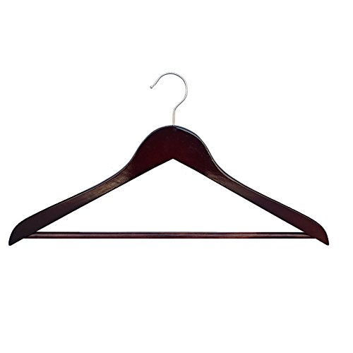 Proman Products Wooden Suit Wood Hanger, Light Walnut