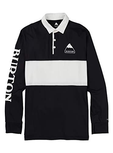 Burton Midweight Rugby Camiseta termica, Hombre, True Black/Stout White, XL