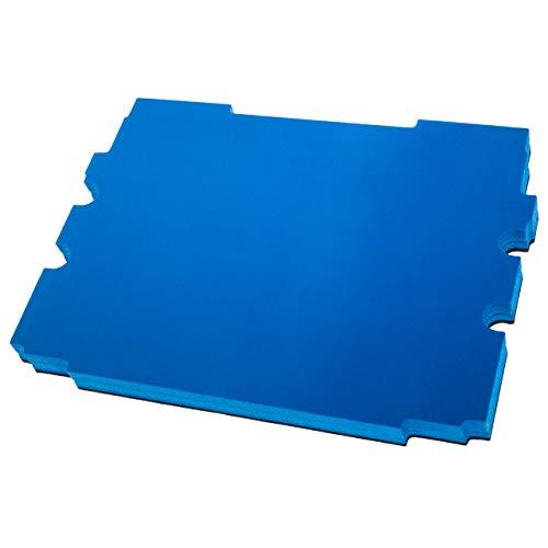 vhbw Pieza de espuma compatible con Makita MakPac 1, 2 caja de herramientas - espuma rígida, negro - azul, 30mm