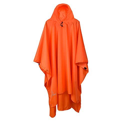 Regen Poncho 3 in 1 Waterdichte Multifunctionele Regenjas Moderne Casual met Hooded Zonnebescherming Tarp Mat Rugzak Camping Wandelen Picknick Vissen en andere