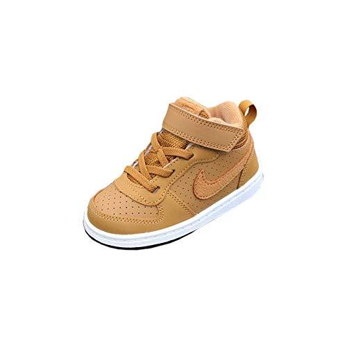 Nike Court Borough Mid (TDV), Pantofole Unisex-Bimbi, Multicolore (Wheat/Wheat/Summit White/Black 701), 17 EU