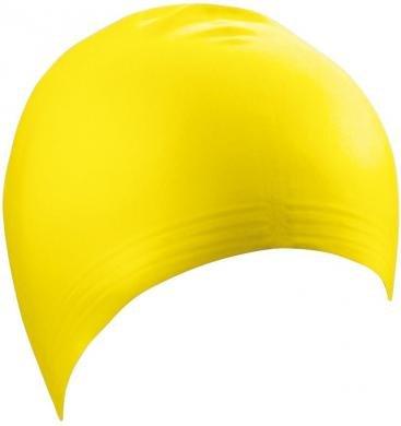 Schwimm- und Badekappe aus Latex Farbe gelb