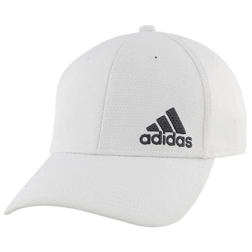adidas Men's Release II Stretch Fit Structured Cap, White/Onix, L/XL
