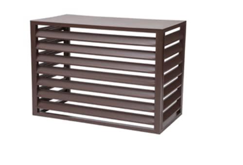 reshare – Protezione e copertura per condizionatore esterno, pompa di calore in alluminio, 110 x 80 x 60 cm, 4 lati B