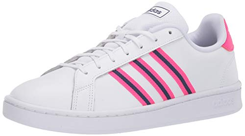 adidas Grand Court, Zapatillas Deportivas. para Mujer, FTWR White Shock Pink Tech Indigo, 37 1/3 EU