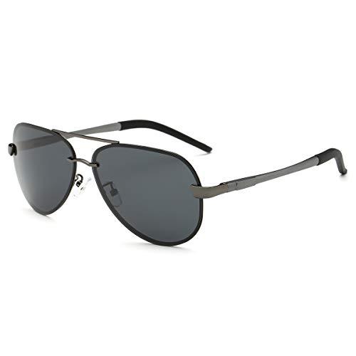 TYJYY Sunglasses Vintage Rimless Polarized Sunglasses For Men Luxury Women Pilot Alloy Mirror Goggle Unisex Sun Glasses