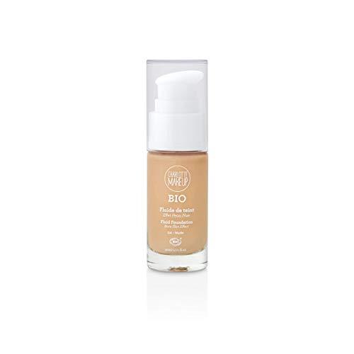 Charlotte Make Up – Fondotinta Fluido Bio – Tintura: Nude – Unificare e rivedere l Eclat del Tinto, coprente – Finitura opaca naturale – Effetto pelle nuda – 30 ml