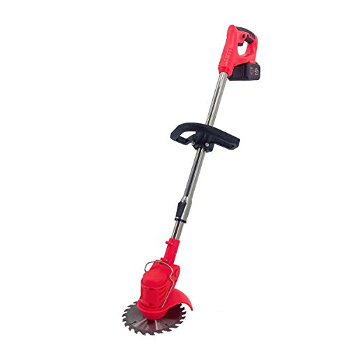 ECUTEE Portable Electric Cordless String Trimmer & Wheeled Edger, Handheld Trimmer, Grass Shear Electric, Lawn Trimmer, Garden Mower, Trimmer Cutter, Perfect for Leaves & Debris,42V