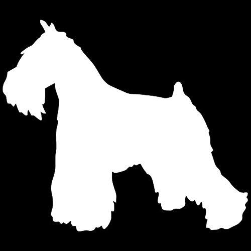 11,2 * 9,5 CM Mini Schnauzer Animal Personalidad Coche Pegatina Moda Coche Cubierta Desde Cero Pegatina Decorativa-Plata