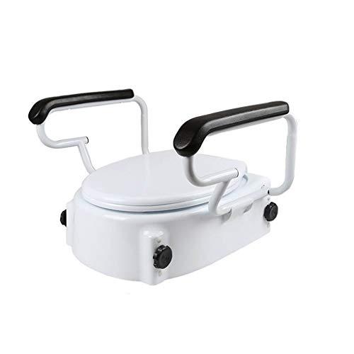 Toilet Seat en Frame Toilet deksel verhogende postoperatieve revalidatie oudere toilet met armleuningen zwangere vrouwen toilet verhogende wasmachine stoel (wit) Verstelbare Commode Stoel