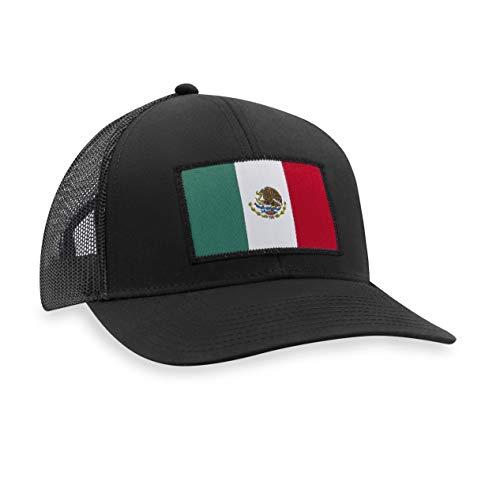 Mexico Hat – Mexican Flag Trucker Hat Baseball Cap Snapback Golf Hat (Black)