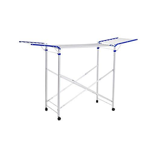 Cinquepalmi - Tendedero para la ropa con caballete, de aluminio, con ruedas