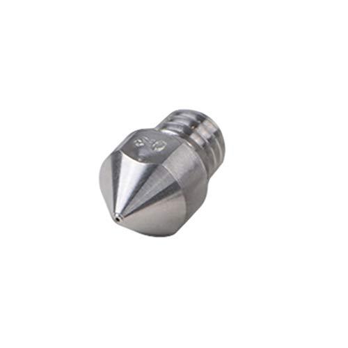 UKCOCO Boquillas Extrusoras de Impresora 3D- Boquilla Extrusora de Aleación de Titanio Cabezal de Impresora de Rosca Boquilla de Latón Extrusora Compatible con Impresora MK8 3D (Plata)