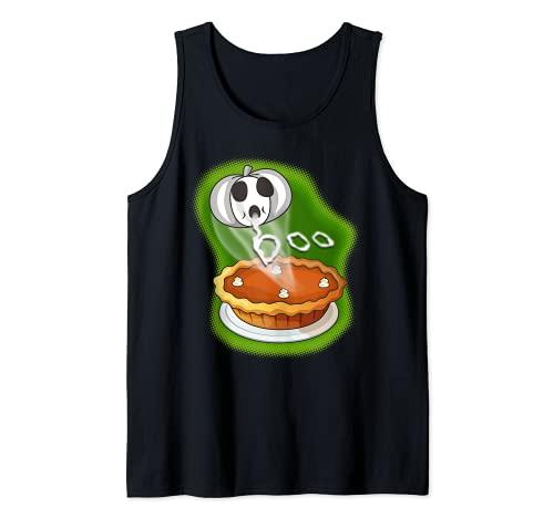 Divertido disfraz divertido de Halloween de la tarta de calabaza para los panaderos Camiseta sin Mangas