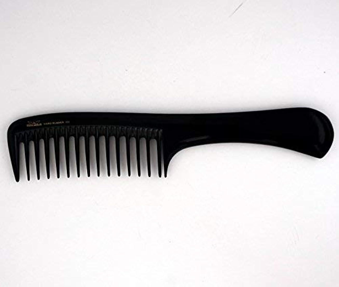 浸したがっかりする要塞9in, Hard Rubber, Wide Tooth Handle Comb [並行輸入品]