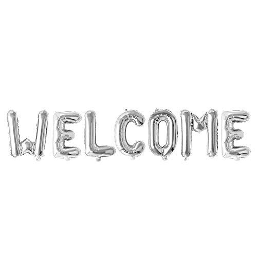 3A Decoration Welcome Foil Balloon Set (Pack of 7 Letter- Silver)