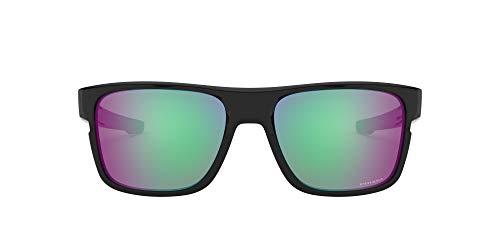 Oakley Men's Crossrange 0OO9361 Non-polarized Iridium Square Sunglasses, Polished black, 57.01 mm