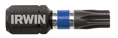 IRWIN 1899946 Impact Performance Series Screwdriver Insert Bit, T25 Torx, 1-Inch, 20-Pack