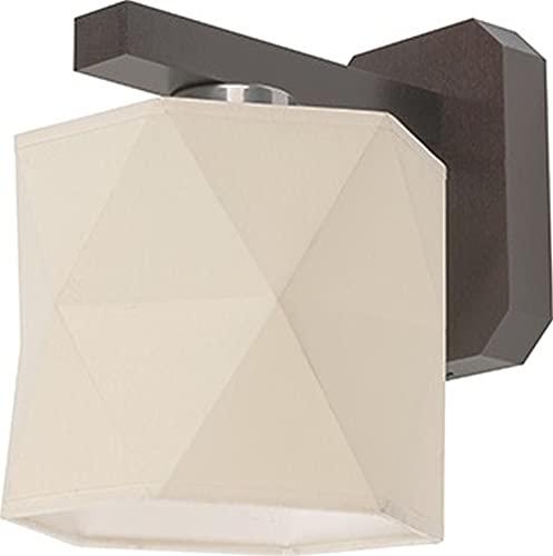 Applique murale bois marron Abat-jour en tissu Crème E27 Lampe murale design moderne couloir salon Éclairage intérieur