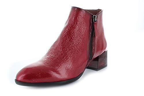 HISPANITAS HI99114 - Botin Piel T.B. Rojo para Mujer Color: Rojo Talla: 39