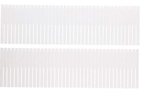 Urban diseño 2cajón porciones Organizador Cajón Bandeja teiler División Trenner se Puede Cortar, plástico, Blanco, 14 x 48,5 cm