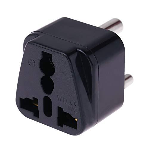 Electronic Accessories Lzw zócalo universal portátil for (Pequeño) Sudáfrica enchufe del adaptador de cargador de viaje (Negro) (Color : Black)