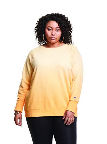 Champion Plus Powerblend Cropped Crew Camisa, Adobe Wall Tan Ombre - Lámpara de Pared, 4X para Mujer
