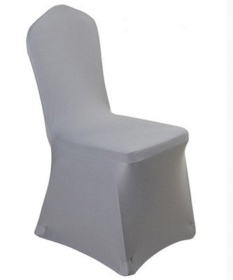 Spandex Dining Chair Cover Covers for Wedding Banquet (Gray)