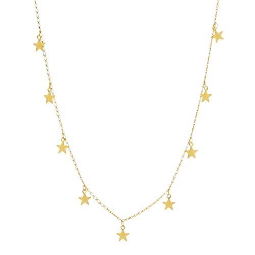 joyliveCY Moda Simple Estrella de Cinco Puntas Collar Colgante Belleza Colgante pequeño Collar de Mujer Simple